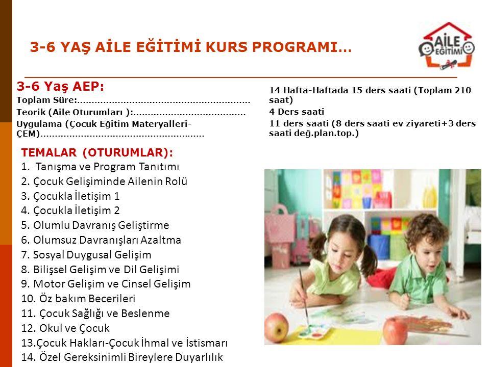 TEMALAR (OTURUMLAR): 1. Tanışma ve Program Tanıtımı 2. Çocuk Gelişiminde Ailenin Rolü 3. Çocukla İletişim 1 4. Çocukla İletişim 2 5. Olumlu Davranış G