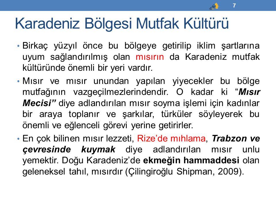 İç Anadolu Bölgesi Mutfak Kültürü Orta Asya'dan gelen Türkler'in yanlarında getirdikleri ve tamamen Türk ismi ile de özdeşleşen yoğurt, bulgur, pastırma ve tarhana gibi ürünler İç Anadolu mutfak kültürü için temel bileşenleri oluşturmaktadır.