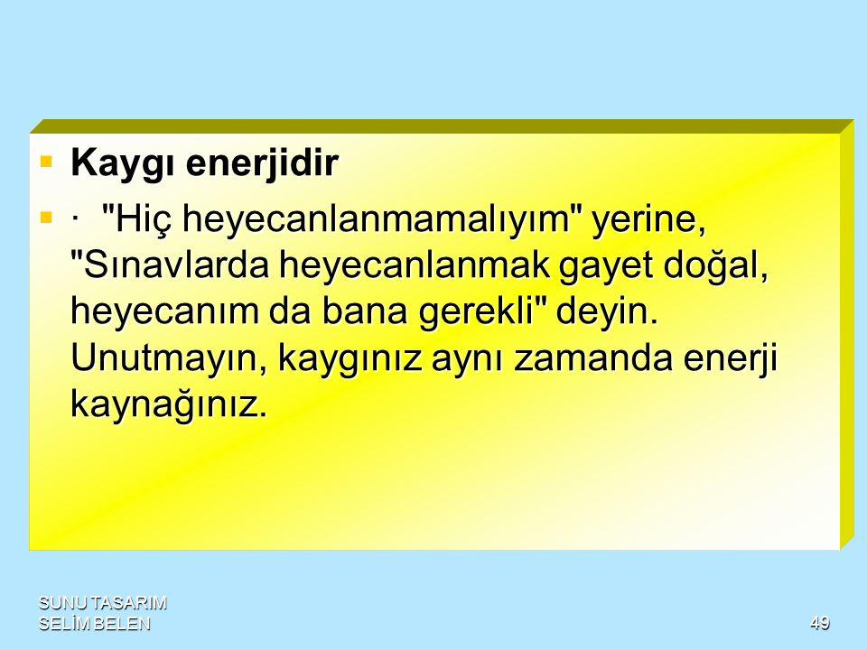 SUNU TASARIM SELİM BELEN48  Dikkati ekonomik kullanın  ·