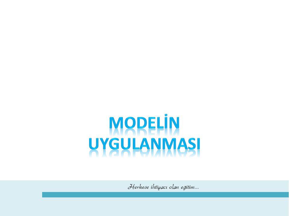 MODELİN UYGULANMASI 8 2013 - 2014 eğitim - öğretim yılından başlayarak altı temel ders için 8.