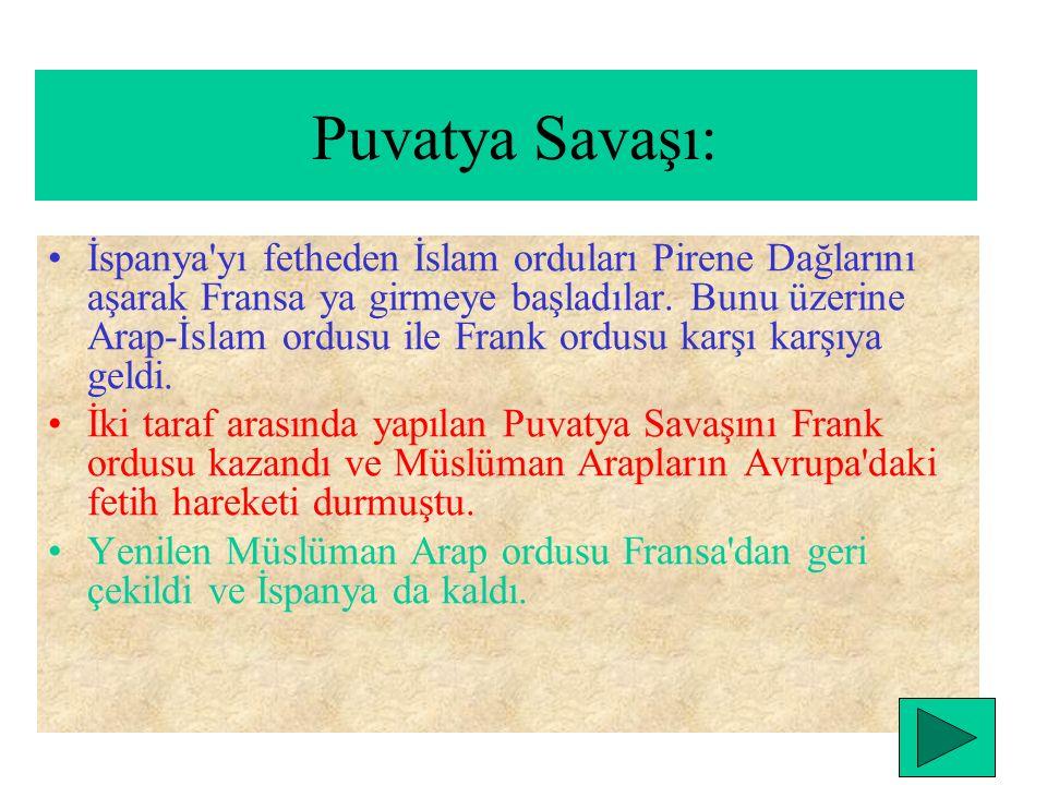 İslam orduları bir taraftan Orta Asya'da fetihler yaparken diğer taraftan kuzey Afrika'nın fethi tamamlanmıştır. İslam orduları Kadiks Savaşı ( 711) (