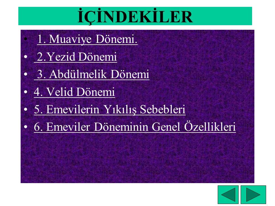 EMEVİLER DÖNEMİ (661- 750 )