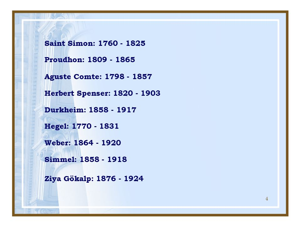 5 Saint Simon: 1760 - 1825 19.