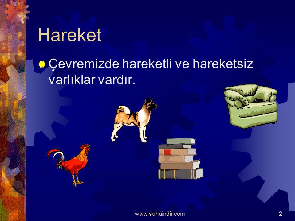 www.sunuindir.com1  Hareket  Kuvvet  Enerji