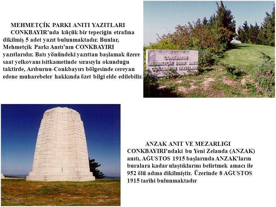 04.10.2015 ANZAK ANIT VE MEZARLIĞI CONKBAYIRI ndaki bu Yeni Zelanda (ANZAK) anıtı, AĞUSTOS 1915 başlarında ANZAK ların buralara kadar ulaştıklarını belirtmek amacı ile 952 ölü adına dikilmiştir.