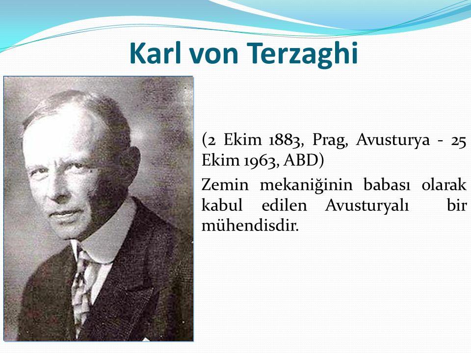 Karl von Terzaghi Prag da doğdu.Graz Teknik Üniversitesi nden mezun oldu.