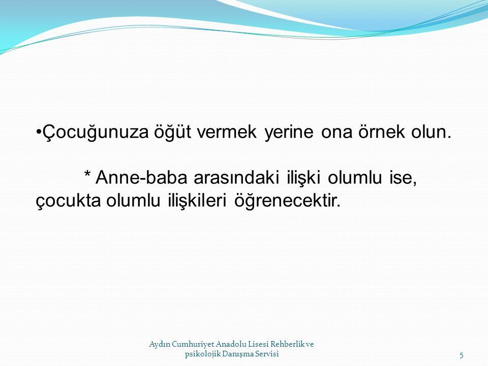 Aydın Cumhuriyet Anadolu Lisesi Rehberlik ve Psikolojik Danışma Servisi