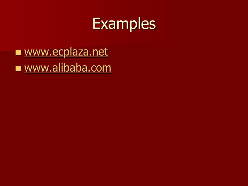 Examples www.ecplaza.net www.ecplaza.net www.ecplaza.net www.alibaba.com www.alibaba.com www.alibaba.com