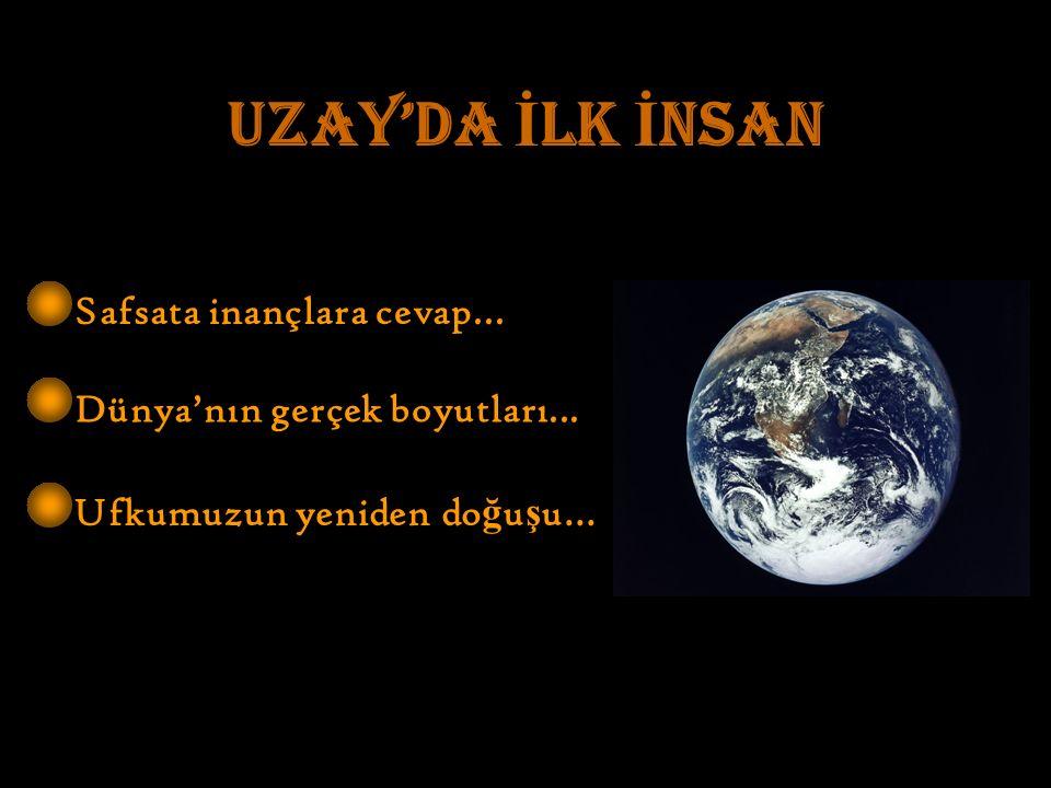 UZAY'DA İ LK İ NSAN Safsata inançlara cevap... Dünya'nın gerçek boyutları...