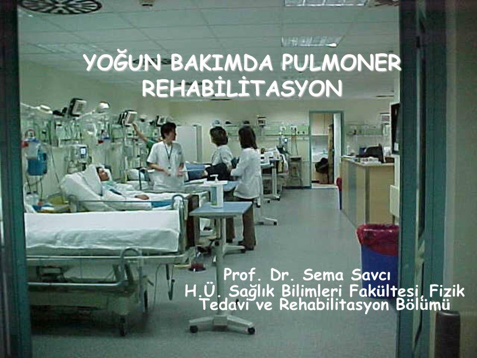 YOĞUN BAKIMDA PULMONER REHABİLİTASYON Prof.Dr. Sema Savcı H.Ü.