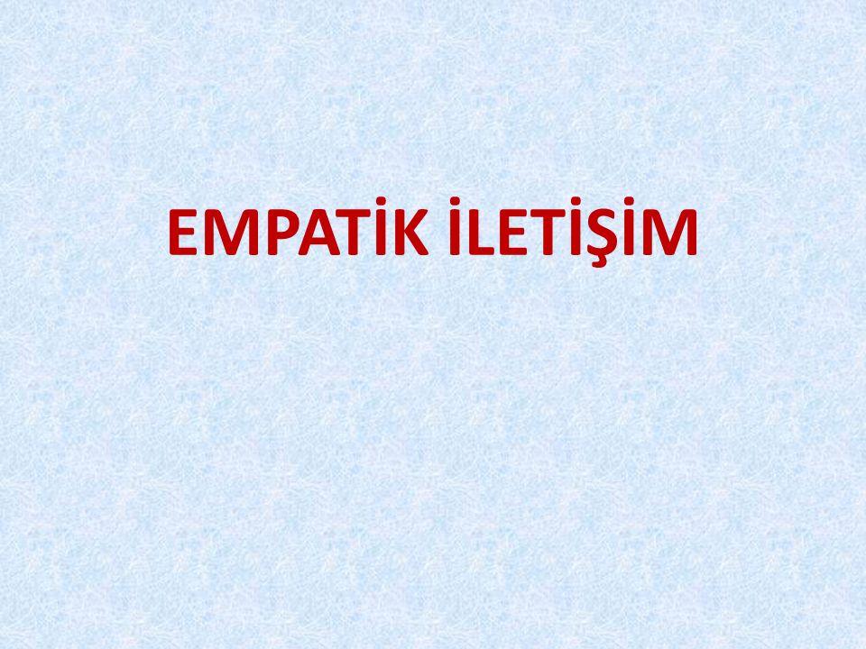 Empati kurabilen bireylerin çoğalması dileğiyle… Teşekkür eder, saygıyla selamlarım.