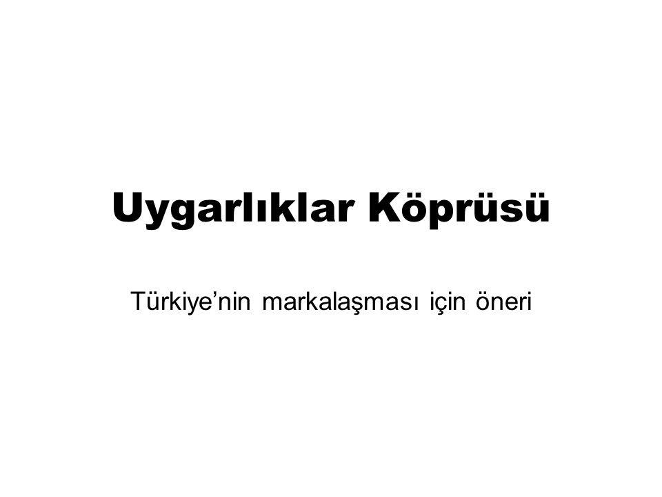 Uygarlıklar Köprüsü Türkiye'nin markalaşması için öneri