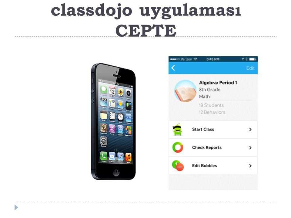 classdojo uygulaması CEPTE
