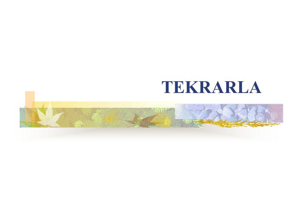 TEKRARLA