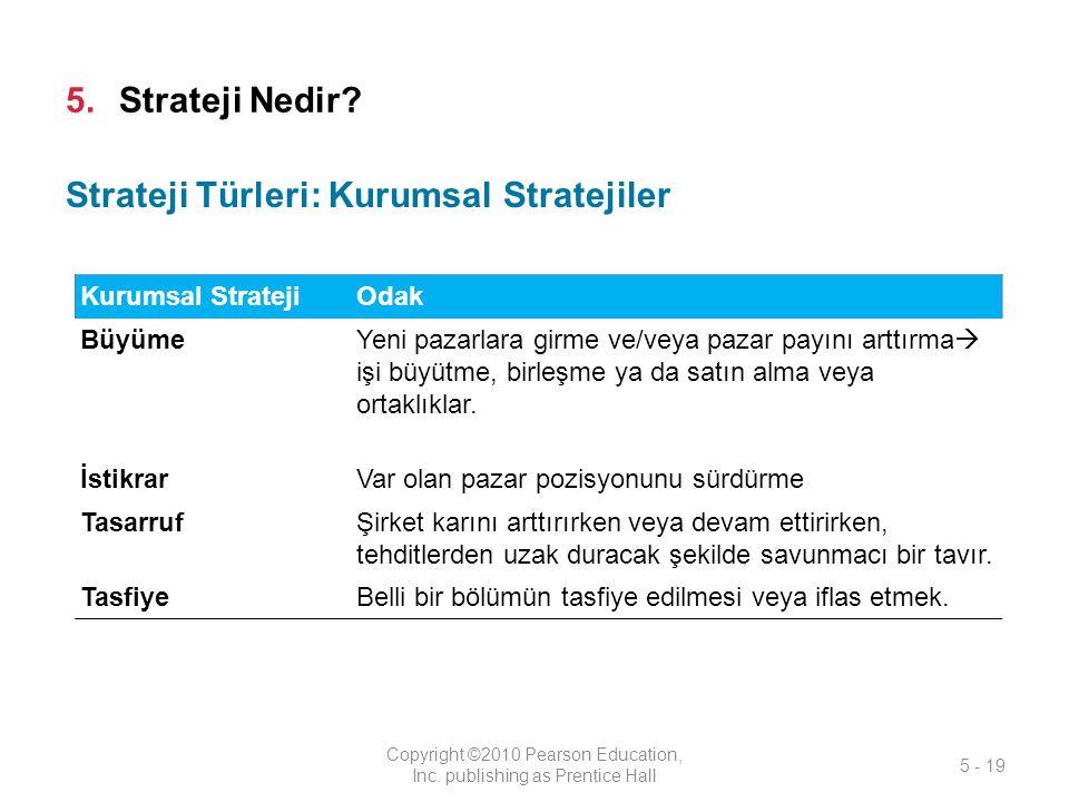 5.Strateji Nedir.Copyright ©2010 Pearson Education, Inc.