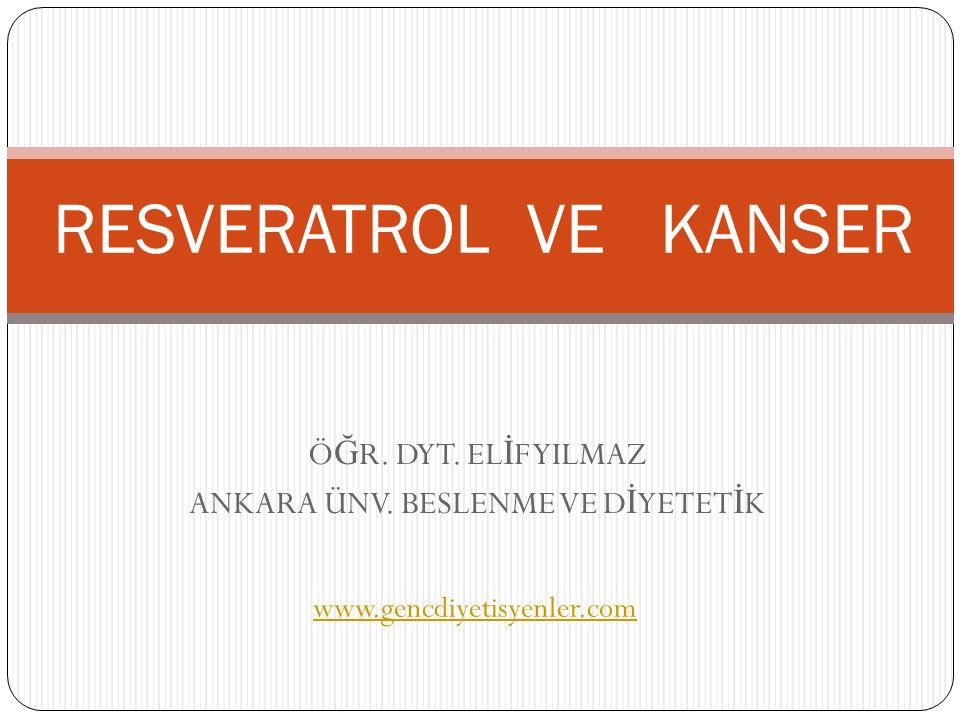 Resveratrol aracılı inhibisyon, COX-1'in siklooksigenaz aktivitesi için spesifiktir.