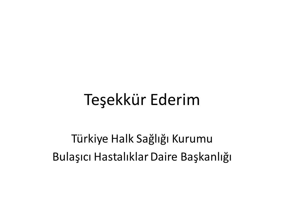 Teşekkür Ederim Türkiye Halk Sağlığı Kurumu Bulaşıcı Hastalıklar Daire Başkanlığı