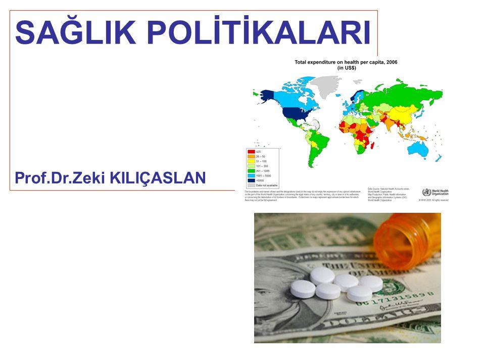 SAĞLIK POLİTİKALARI Prof.Dr.Zeki KILIÇASLAN