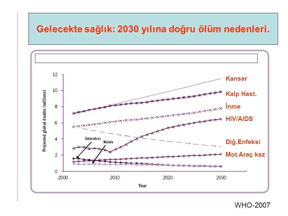 WHO-2007 Gelecekte sağlık: 2030 yılına doğru ölüm nedenleri.
