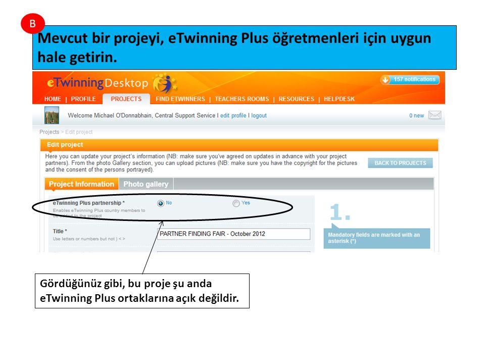 Gördüğünüz gibi, bu proje şu anda eTwinning Plus ortaklarına açık değildir.