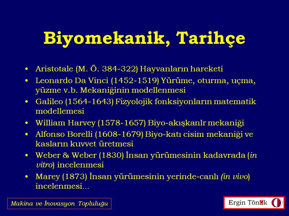 Biyomekanik, Tarihçe Makina ve İnovasyon Topluluğu Aristotale (M.