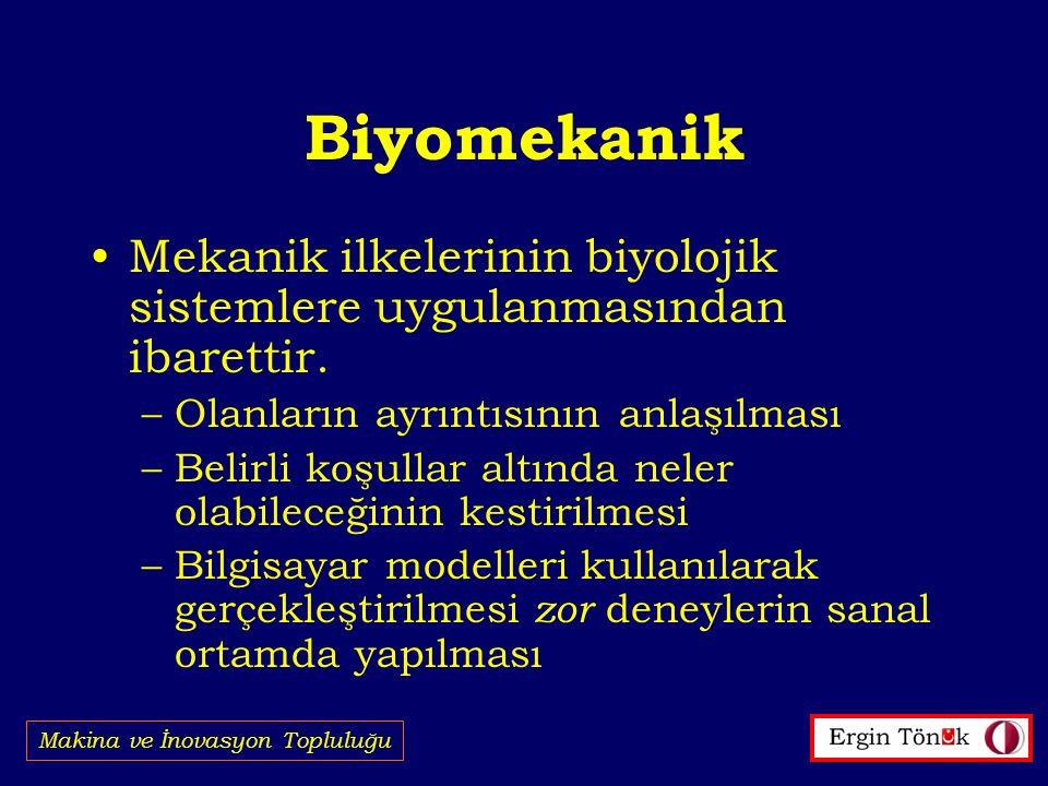 Biyomekanik Mekanik ilkelerinin biyolojik sistemlere uygulanmasından ibarettir.