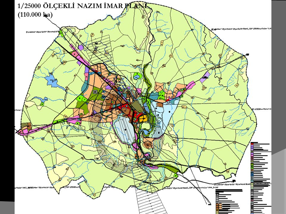 1/25000 ÖLÇEKLİ NAZIM İMAR PLANI (110.000 ha)