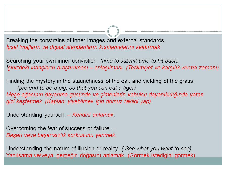 The distinction between the virtue and vanity.(Man on the tree) Kibir ve erdem arasındaki fark.