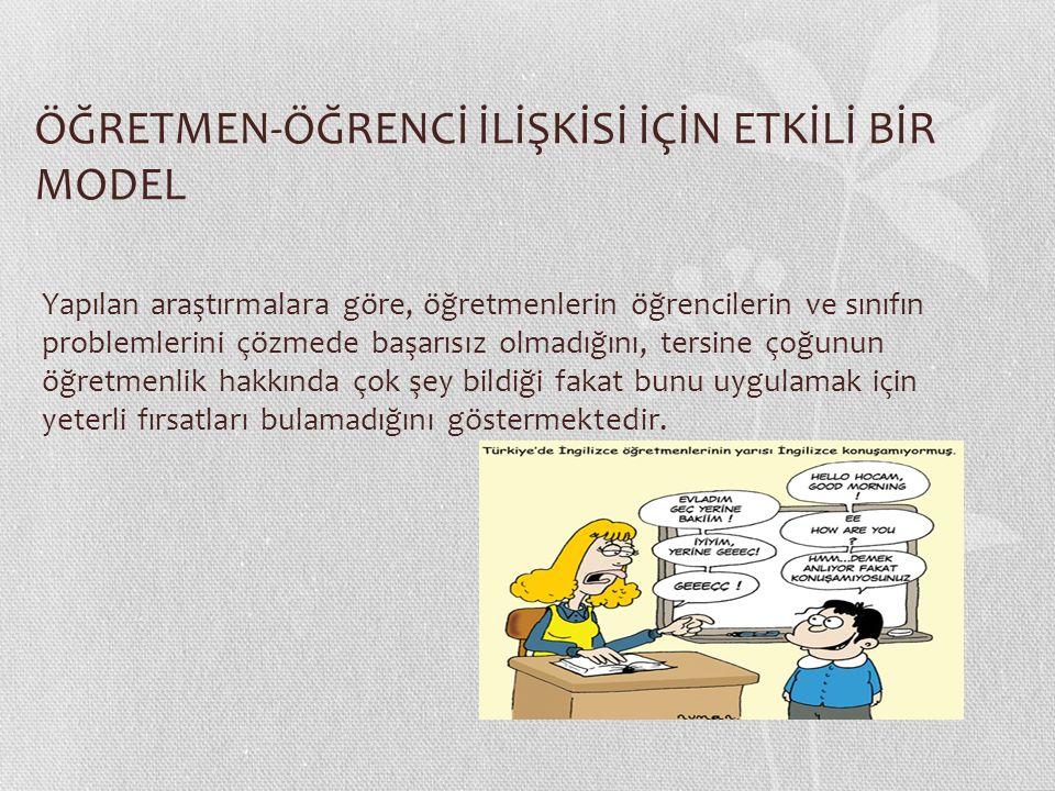 İyi öğretmen tanımları genel olarak benzerdir.Örneğin; Öğretmen ve öğrenci arasındaki ilişki, 1.