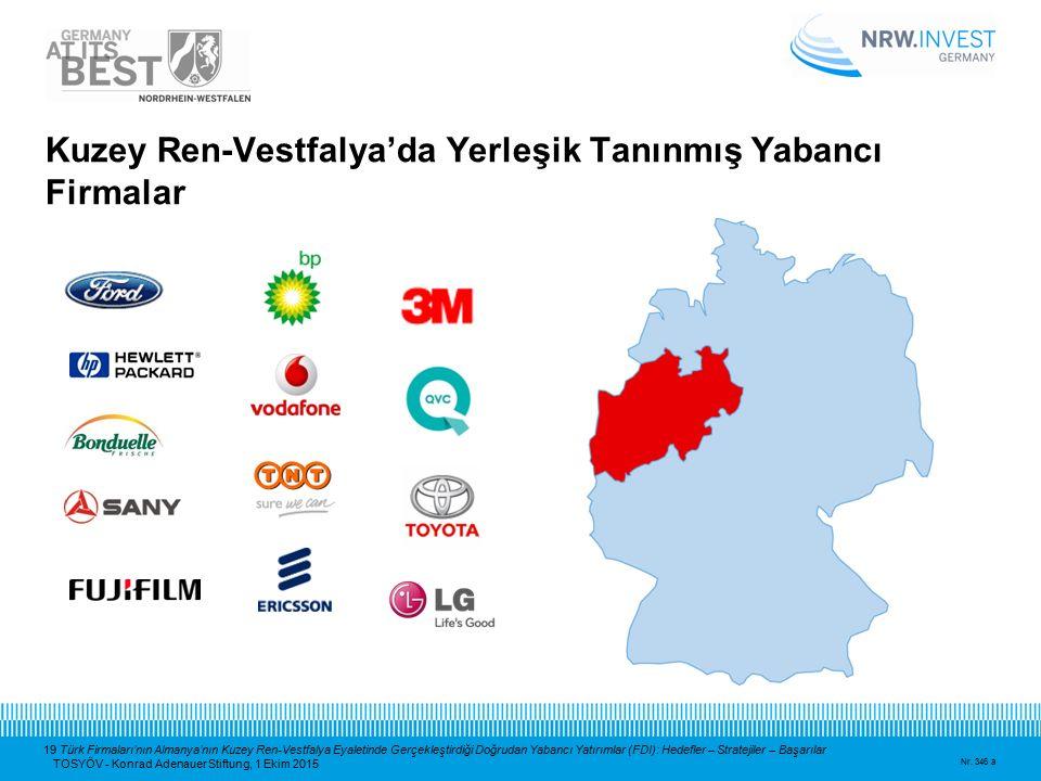 19 Türk Firmaları'nın Almanya'nın Kuzey Ren-Vestfalya Eyaletinde Gerçekleştirdiği Doğrudan Yabancı Yatırımlar (FDI): Hedefler – Stratejiler – Başarıla