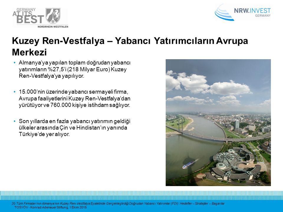 20 Türk Firmaları'nın Almanya'nın Kuzey Ren-Vestfalya Eyaletinde Gerçekleştirdiği Doğrudan Yabancı Yatırımlar (FDI): Hedefler – Stratejiler – Başarıla
