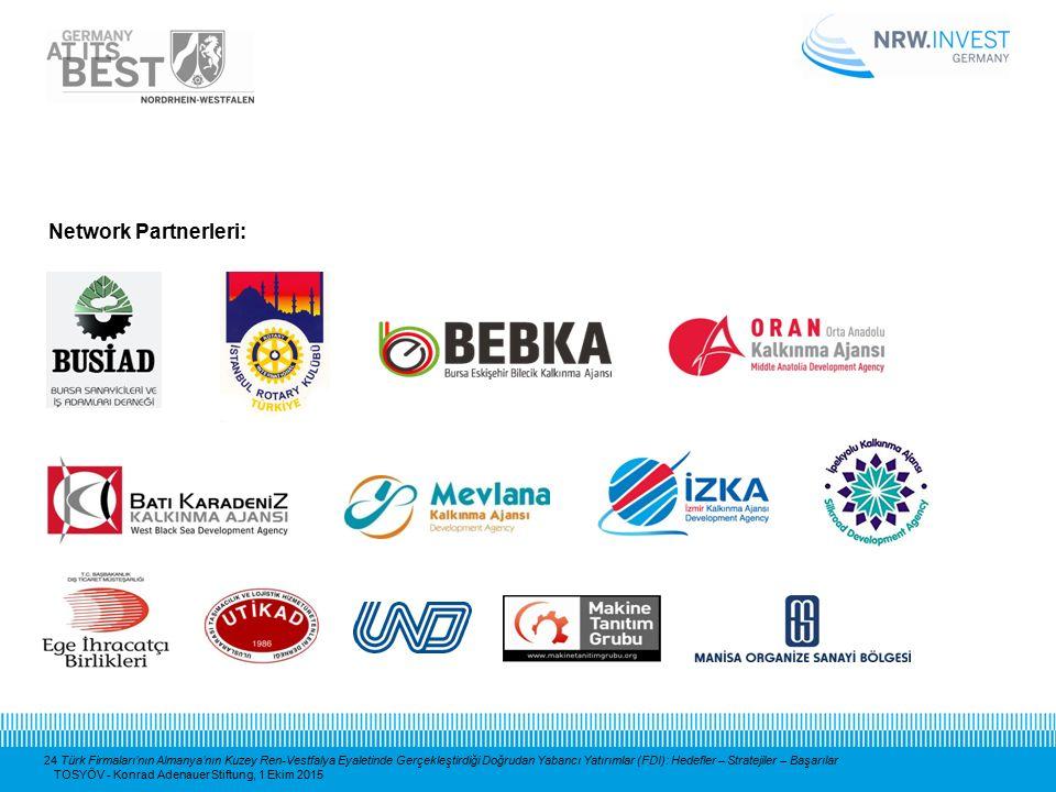24 Türk Firmaları'nın Almanya'nın Kuzey Ren-Vestfalya Eyaletinde Gerçekleştirdiği Doğrudan Yabancı Yatırımlar (FDI): Hedefler – Stratejiler – Başarıla
