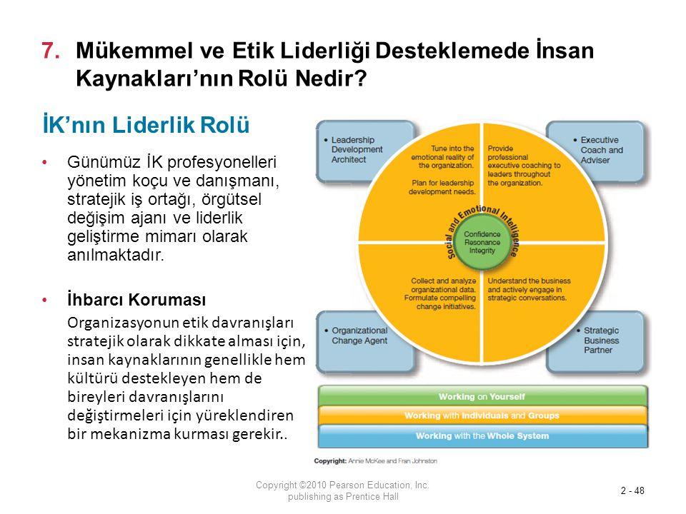 7.Mükemmel ve Etik Liderliği Desteklemede İnsan Kaynakları'nın Rolü Nedir.