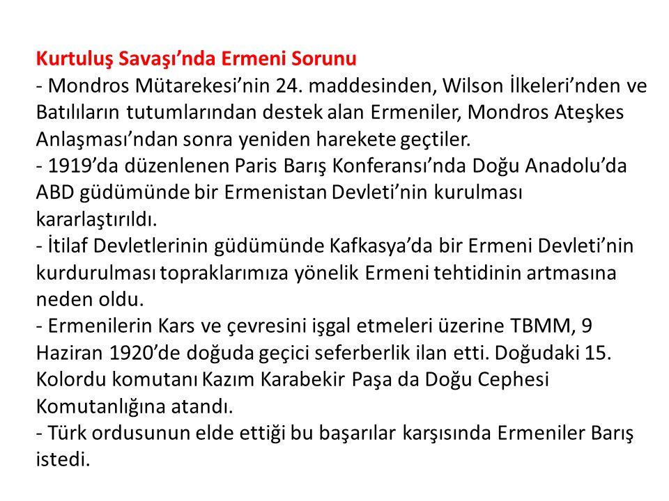 Mudanya Ateşkes Anlaşması ' nın Ö nemi - Batı Cephesi kapandı.