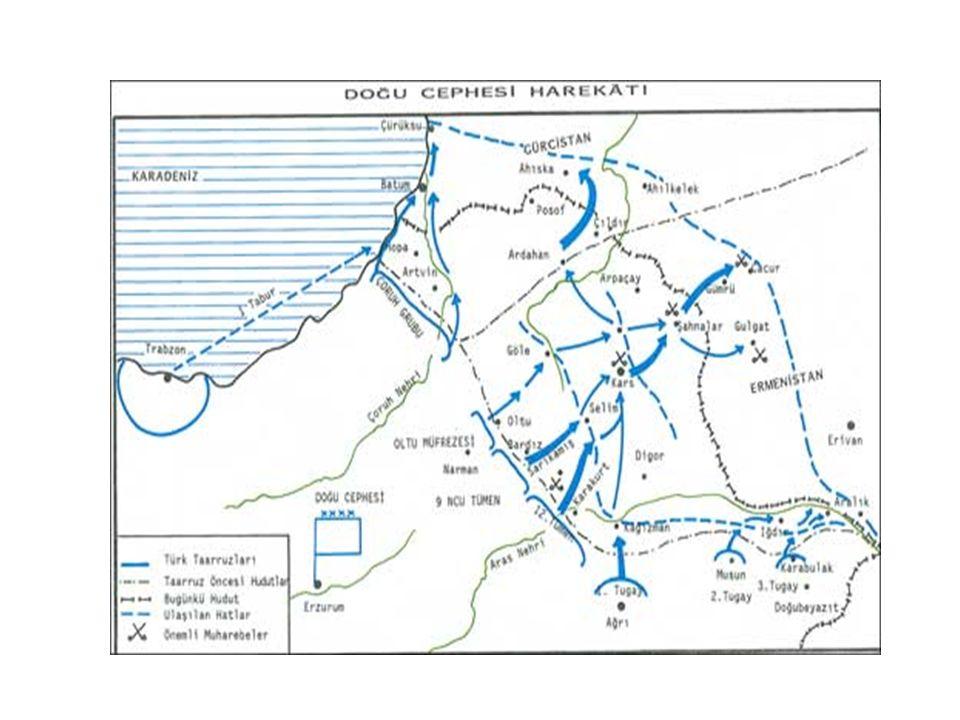 MUDANYA KONFERANSI VE ATEŞKES ANLAŞMASI Büyük Taarruzla birlikte Batı Anadolu Yunanlardan temizlenmişti.