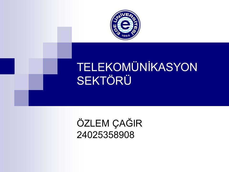 TELEKOMÜNİKASYON SEKTÖRÜ ÖZLEM ÇAĞIR 24025358908