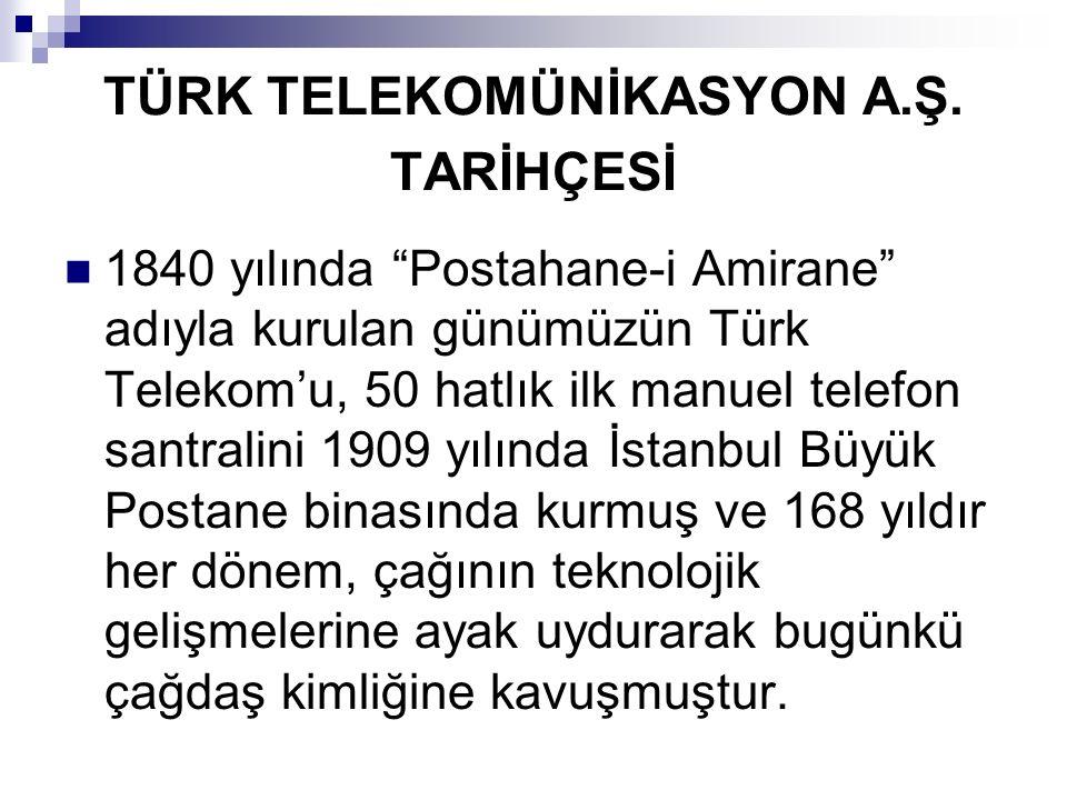 """TÜRK TELEKOMÜNİKASYON A.Ş. TARİHÇESİ 1840 yılında """"Postahane-i Amirane"""" adıyla kurulan günümüzün Türk Telekom'u, 50 hatlık ilk manuel telefon santrali"""