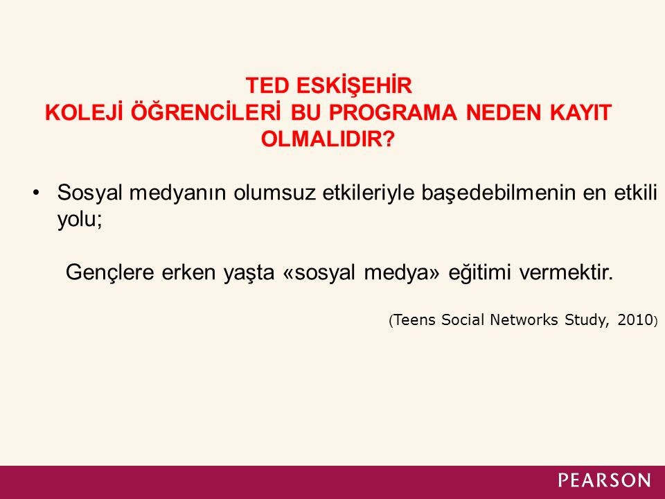TED ESKİŞEHİR KOLEJİ ÖĞRENCİLERİ BU PROGRAMA NEDEN KAYIT OLMALIDIR.