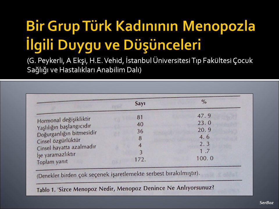(G. Peykerli, A Ekşi, H.E. Vehid, İstanbul Üniversitesi Tıp Fakültesi Çocuk Sağlığı ve Hastalıkları Anabilim Dalı) SerBoz