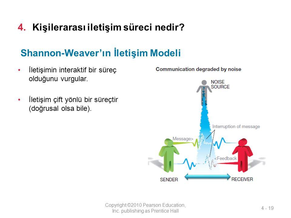 4.Kişilerarası iletişim süreci nedir? İletişimin interaktif bir süreç olduğunu vurgular. İletişim çift yönlü bir süreçtir (doğrusal olsa bile). Copyri