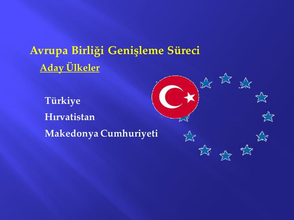 Avrupa Birliği Genişleme Süreci Aday Ülkeler Türkiye Hırvatistan Makedonya Cumhuriyeti