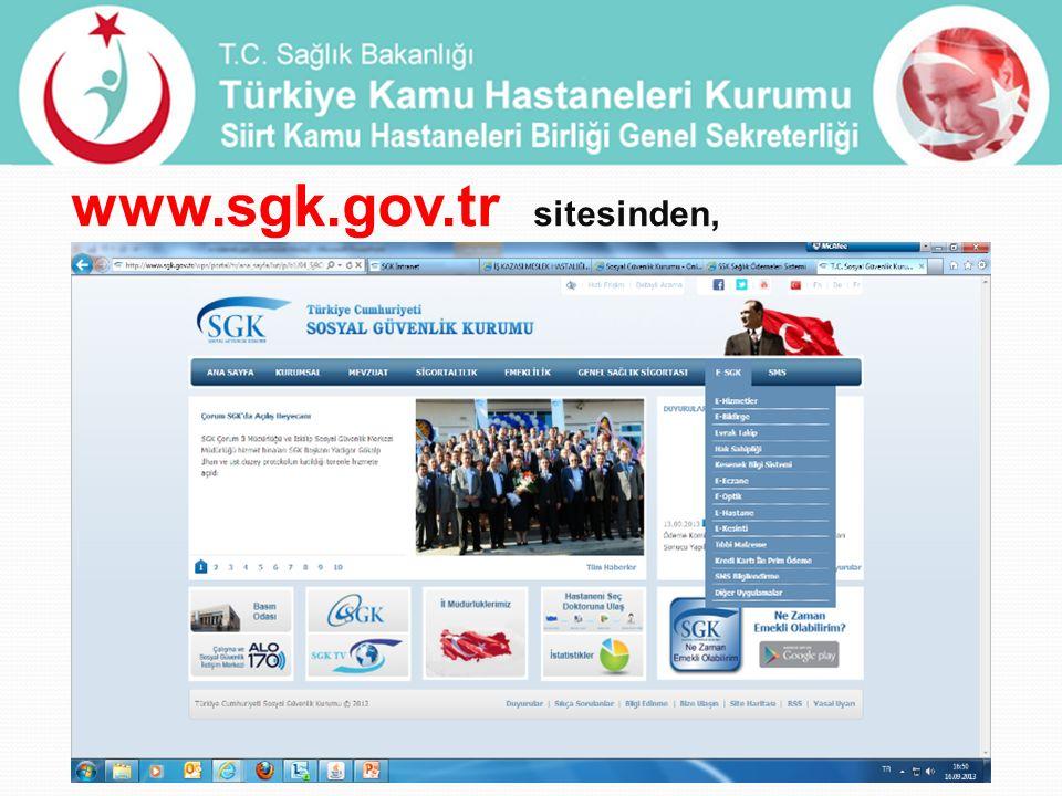www.sgk.gov.tr sitesinden,