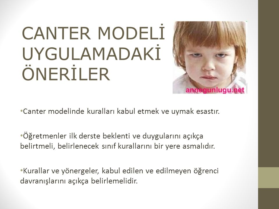 Canter modelinde kuralları kabul etmek ve uymak esastır.