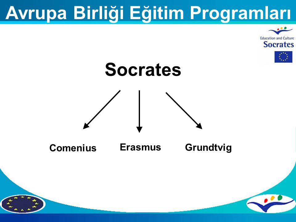 Avrupa Birliği Eğitim Programları Socrates Comenius Grundtvig Erasmus