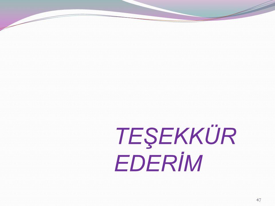 TEŞEKKÜR EDERİM 47
