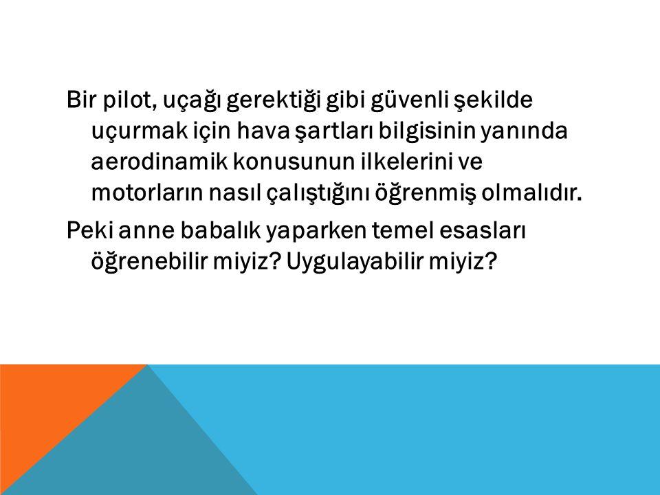 Bir pilot, uçağı gerektiği gibi güvenli şekilde uçurmak için hava şartları bilgisinin yanında aerodinamik konusunun ilkelerini ve motorların nasıl çal