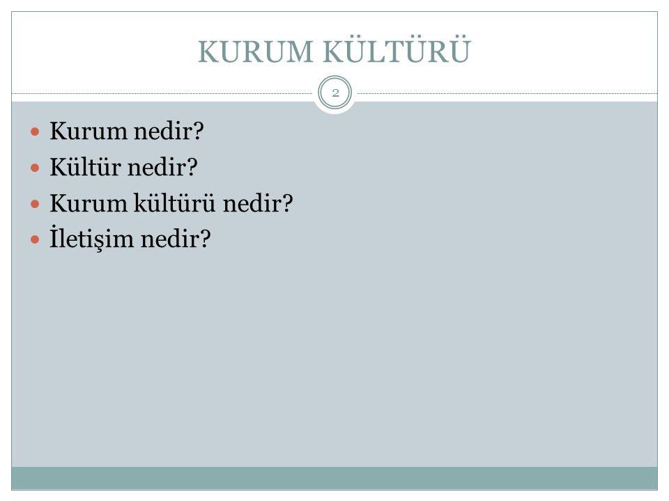 Kurumsal Kültürü tespit etmede sorular 23 4.