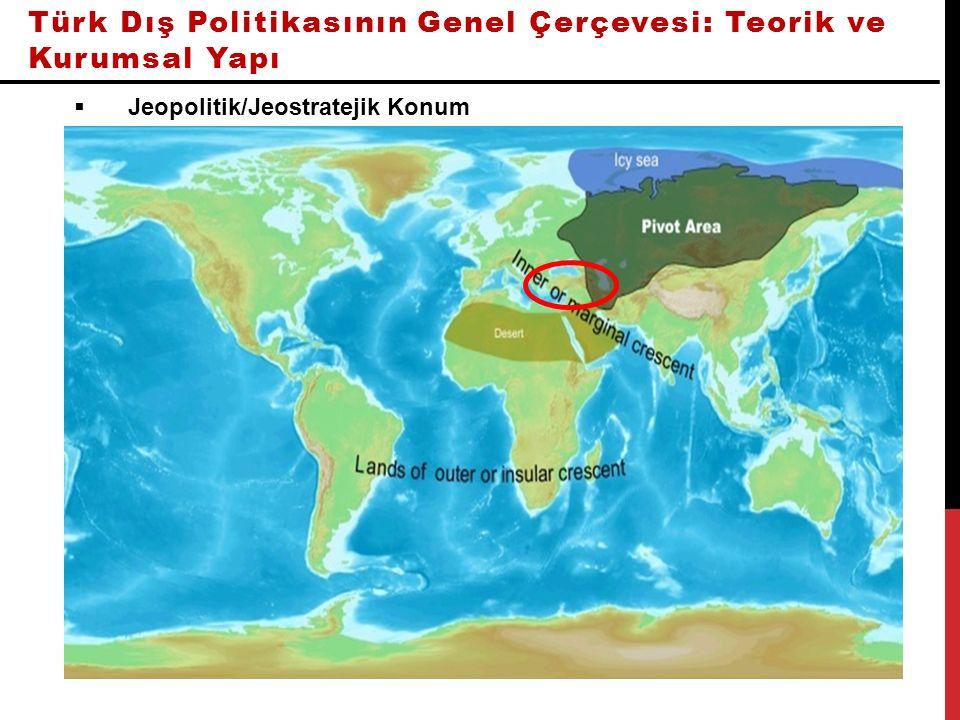 Türk Dış Politikasının Genel Çerçevesi: Teorik ve Kurumsal Yapı  Jeopolitik/Jeostratejik Konum