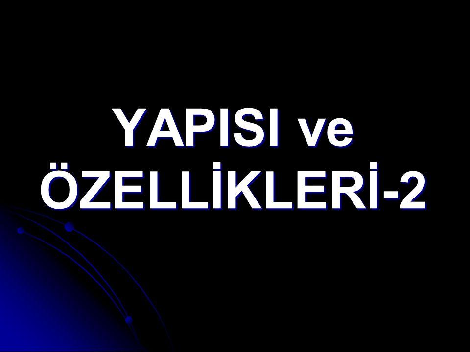 YAPISI ve ÖZELLİKLERİ-2