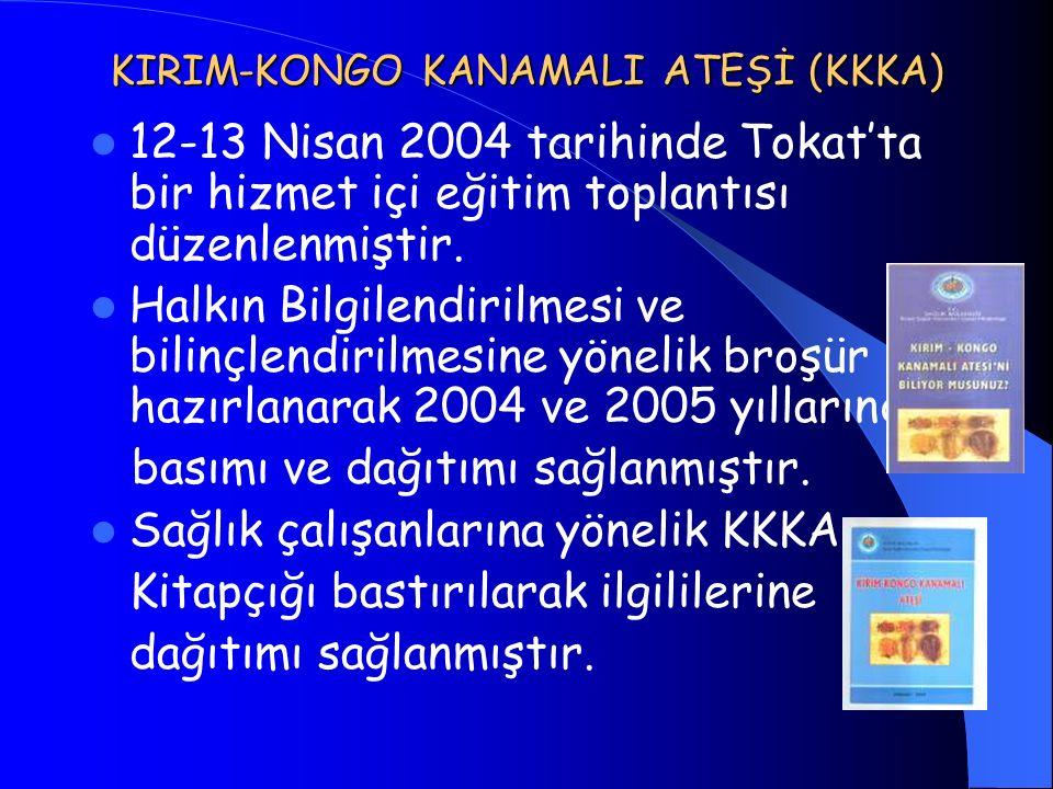 KIRIM-KONGO KANAMALI ATEŞİ (KKKA) 12-13 Nisan 2004 tarihinde Tokat'ta bir hizmet içi eğitim toplantısı düzenlenmiştir. Halkın Bilgilendirilmesi ve bil